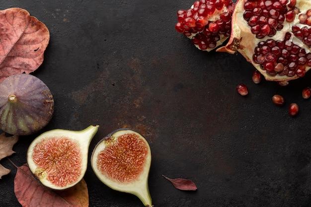 Delizioso spazio copia frutta autunnale