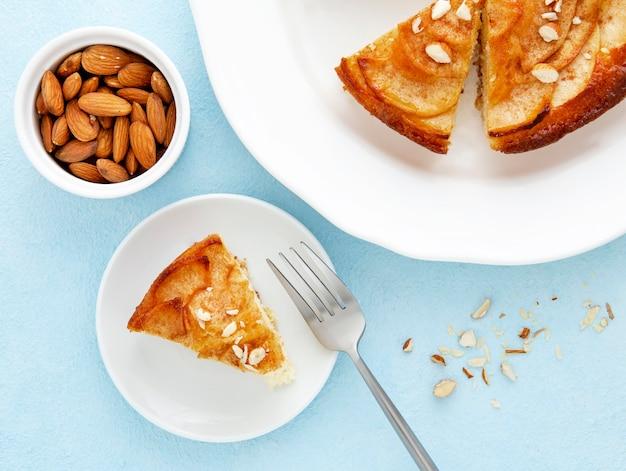 Вкусный осенний пирог с миндалем