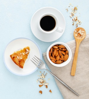 Delicious autumn pie with nuts