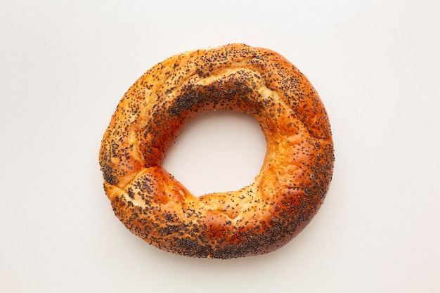 Delicious bagel with poppy seeds