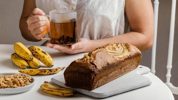 Delizioso panino alla banana
