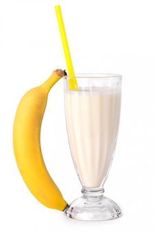Delicious banana milkshake