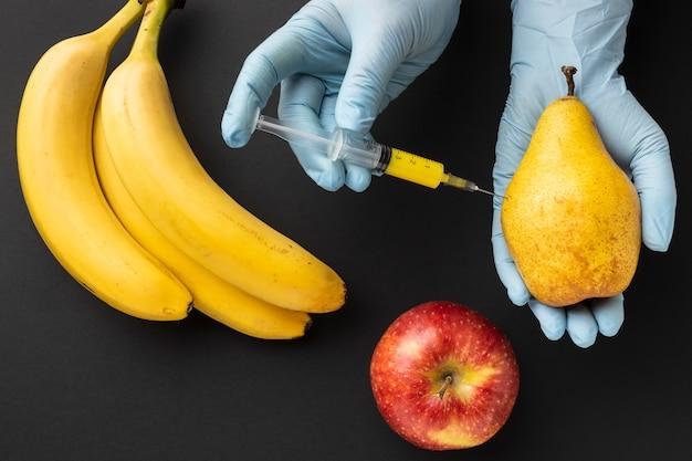 Alimento modificato ogm di banane deliziose