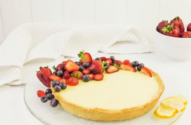 Delicious berries cake