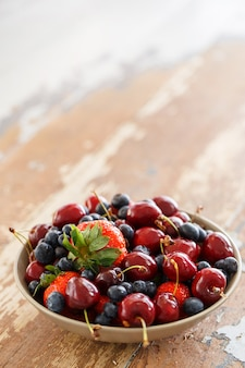 Delicious berries on the table