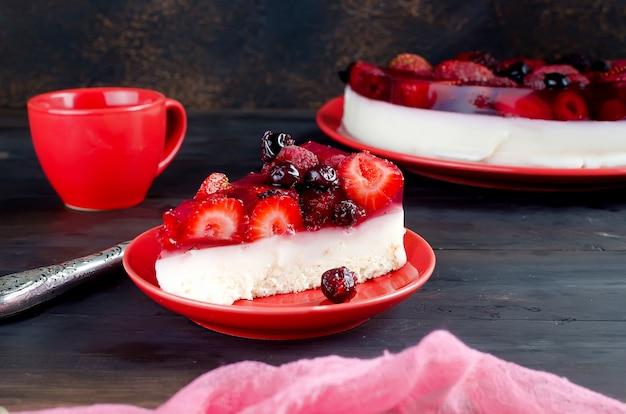 Delicious berry cream mousse cake