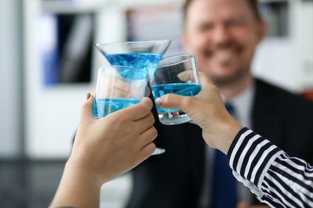 Delicious blue cocktails