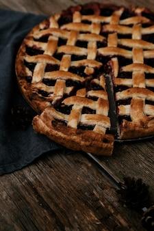 Delicious, blueberry pie