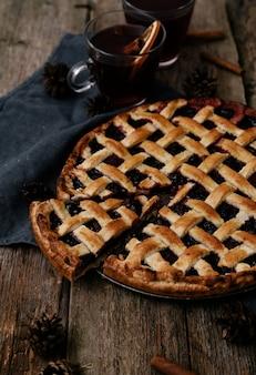 Вкусный черничный пирог