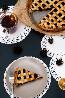 Delicious, blueberry pie