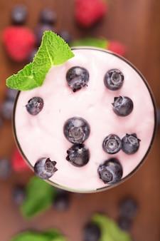 Delicious blueberry yougurt