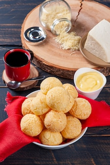 Delicious brazilian cheese bread. also known in latin america as chipa, pan de bono and pan de yuca.