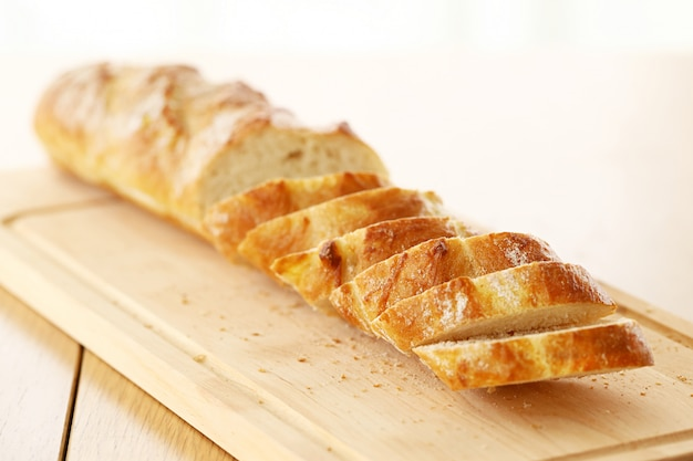 Delicious bread on the table