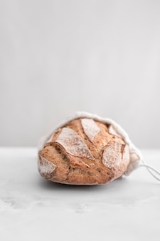 Delicious bread with white background