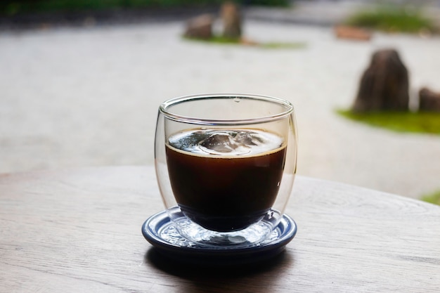Delicious breakfast of iced espresso