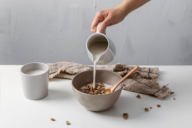 맛있는 아침 식사 모듬