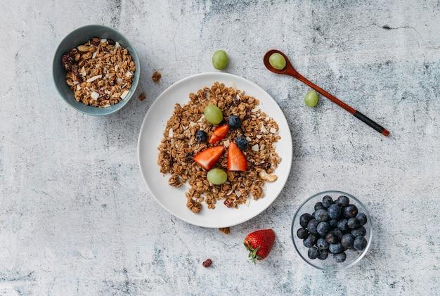 Deliziosa composizione nel pasto della colazione