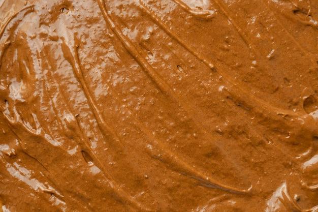 Deliziosa glassa marrone da vicino