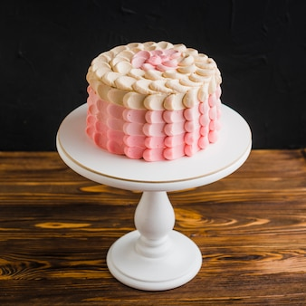 Delicious cake on cakestand