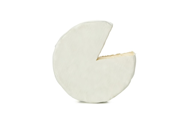 흰색 배경에 고립 된 맛있는 카망베르 치즈