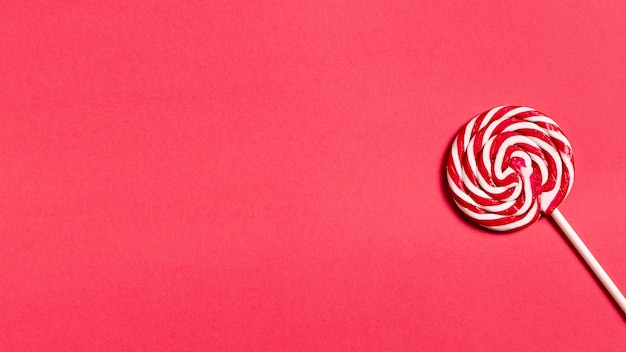 Delicious candy cane with copy space