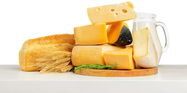 Delicious cheese on the table
