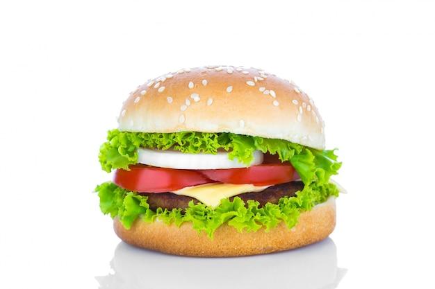 Вкусные чизбургер