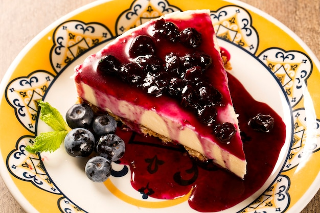 Delicious cheesecake with berries