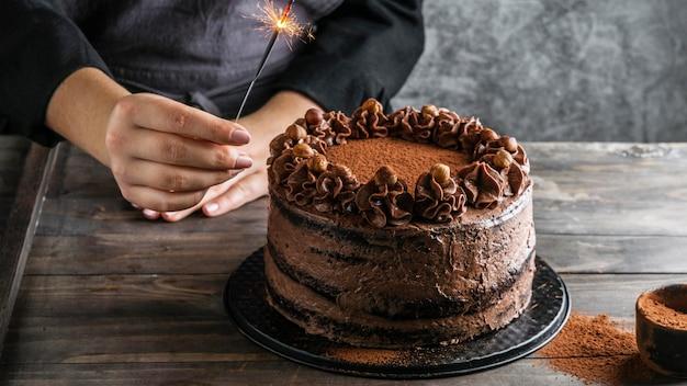 美味しいチョコレートケーキ