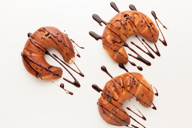 おいしいチョコレートクロワッサンの品揃えフラットレイアウト