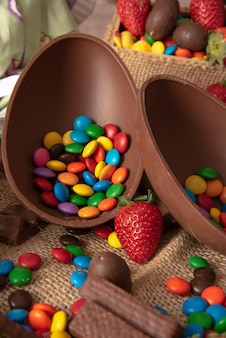 Delicious chocolate easter eggs