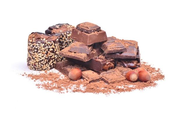 分離されたおいしいチョコレート