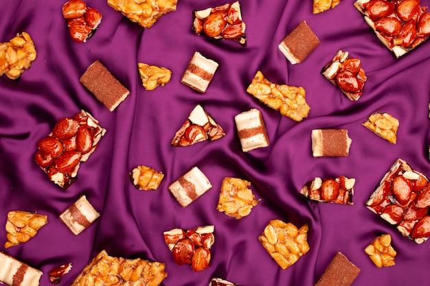ナッツ入りの美味しいチョコレート