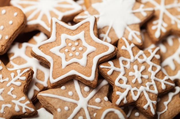 背景のおいしいクリスマスクッキーのテクスチャ