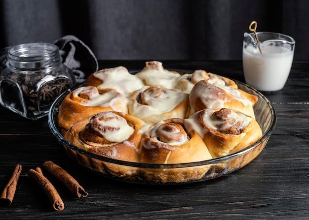 Delicious cinnamon rolls arrangement