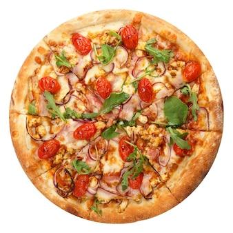 モッツァレラチーズを使ったおいしいクラシックなイタリアンピザ