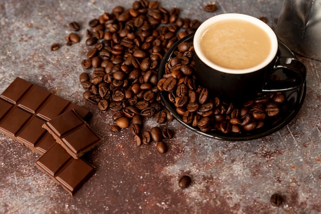 Delicious coffee and chocolate bars