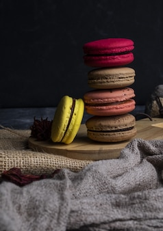 Delicious colorful macaroon