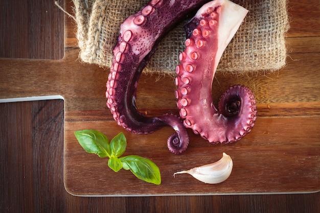 Delicious coocked octopus