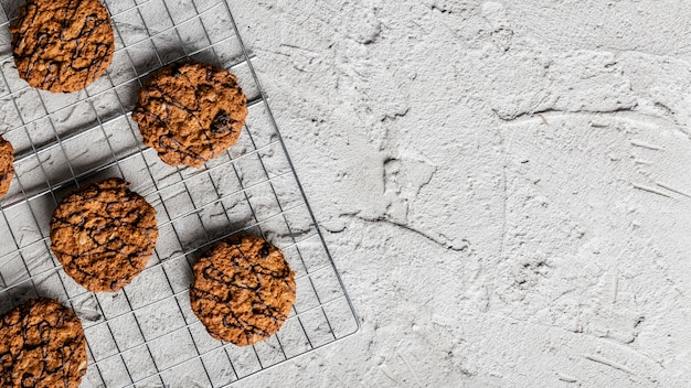 Delicious cookies top view