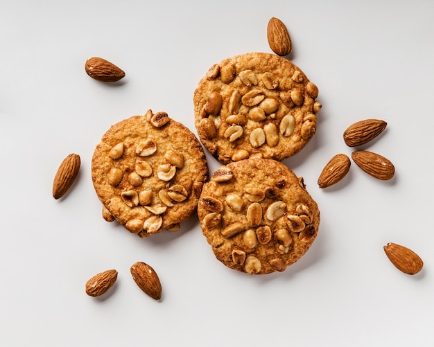 Delicious cookies with nuts