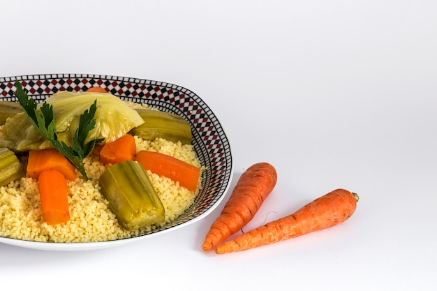 Delicious couscous homemade.isolated