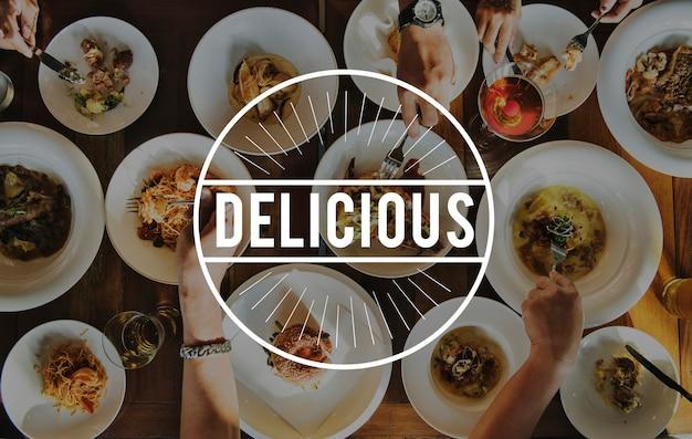 Deliziosa cucina gusto concetto di cibo