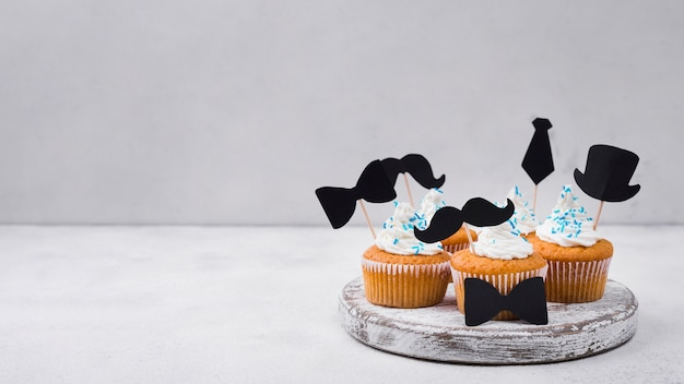 Delicious cupcakes for father's day