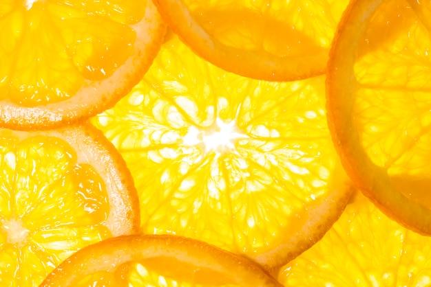 Delicious cut slices of oranges