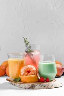 Delicious detox drinks arrangement