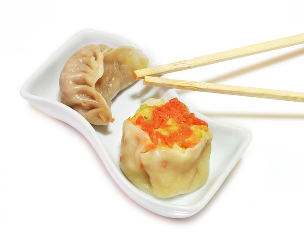 Delicious dish with chinese food