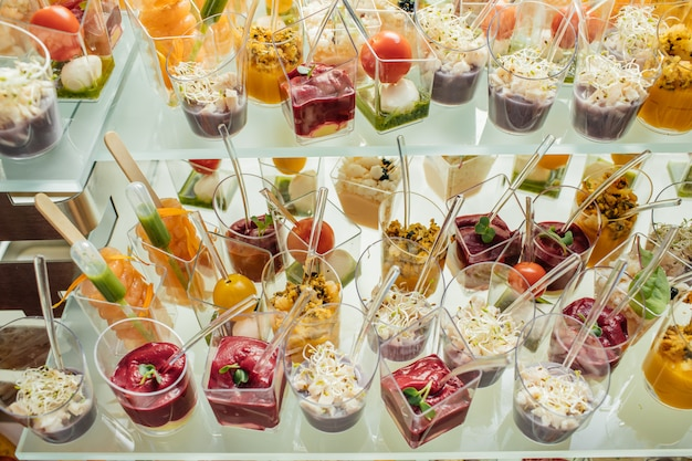 Delicious  dishes  on the table for party