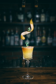 Delicious exotic cocktail