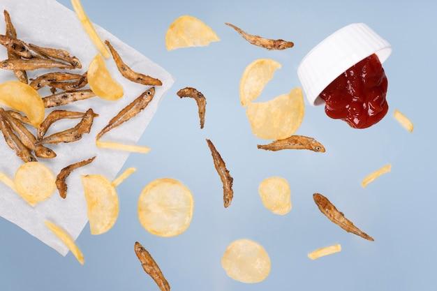 Delizioso di fish and chips inghilterra cibo